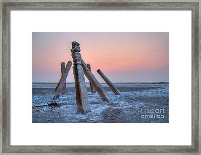 Framed Print featuring the photograph Smokey Sunset by Spencer Baugh