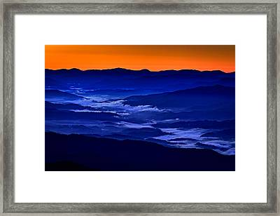 Smokies At Dawn Framed Print by Rick Berk