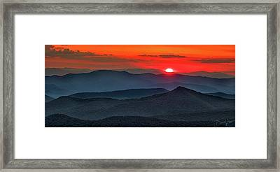 Smokies Sunset Framed Print