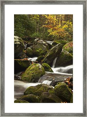Smokies Waterfall Framed Print by Andrew Soundarajan