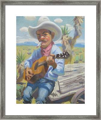 Smokin Guitar Man Framed Print by Texas Tim Webb