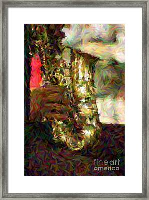 Smokin Jazz Framed Print by Lori Mellen-Pagliaro