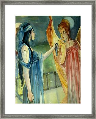 Smoking Angels Framed Print