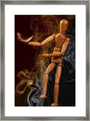 Smoking By Jean Noren Framed Print by Jean Noren