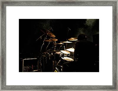 Smoking Drummer Framed Print by Miranda  Miranda