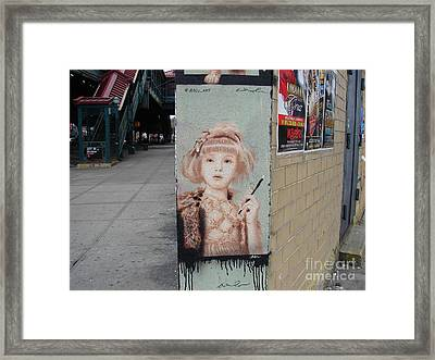 Framed Print featuring the photograph Smoking Girl  by Cole Thompson