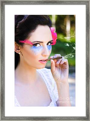 Smoking Glamour Framed Print by Jorgo Photography - Wall Art Gallery