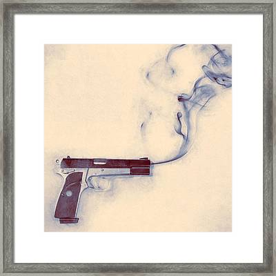Smoking Gun Framed Print by Scott Norris