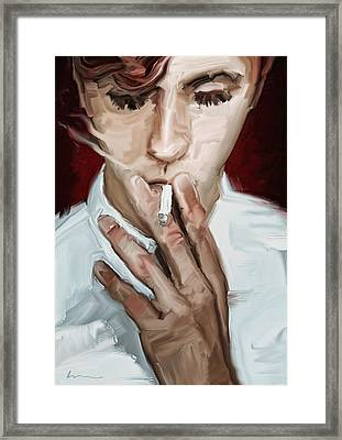 Smoking Framed Print by H James Hoff