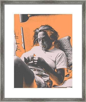 Smoking Hard Coke Framed Print by John Toxey