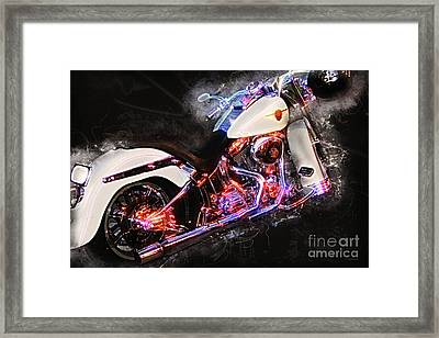 Smoking Hot Hog Harley Davidson 20161102 Framed Print