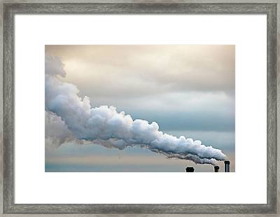 Smoking In The Clouds Framed Print by Jane Kerrigan