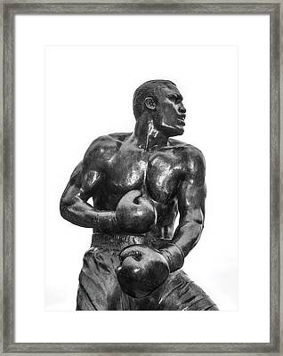 Smoking Joe Frazier Framed Print by Bill Cannon