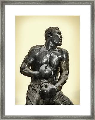 Smoking Joe Frazier In Sepia Framed Print by Bill Cannon