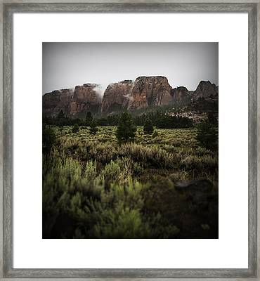 Smoking Mountains Framed Print