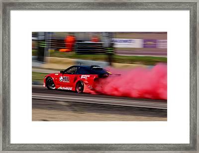 Smoking Red 2 Framed Print