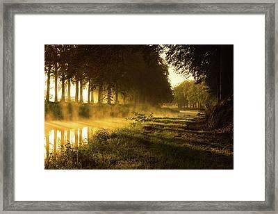 Smoking River Framed Print