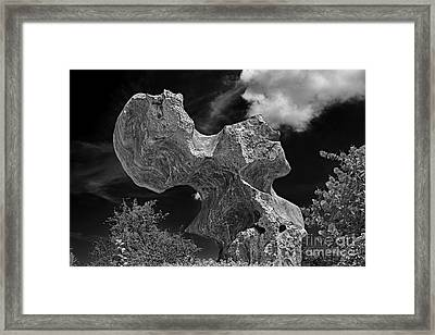 Smoking Rock Framed Print by Ray Evans