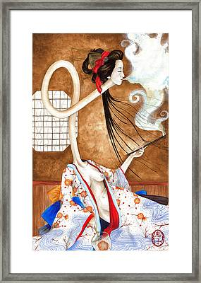 Smoking Siren Framed Print
