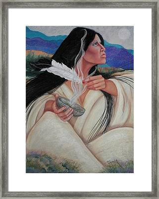 Smoking The Sage Framed Print