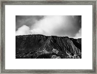 Framed Print featuring the photograph Smoking Volcano by Pradeep Raja Prints