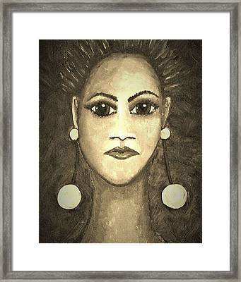 Smoking Woman 1 Framed Print