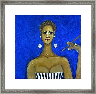 Smoking Woman 2 Framed Print