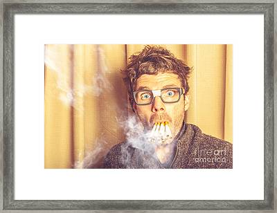 Smoko The Stressed It Nerd Framed Print