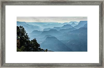 Framed Print featuring the photograph Smoky Canyons by Steven Sparks
