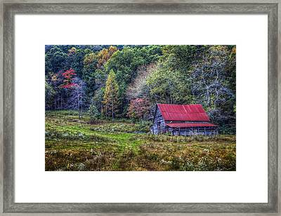 Smoky Mountain Colors Framed Print by Debra and Dave Vanderlaan