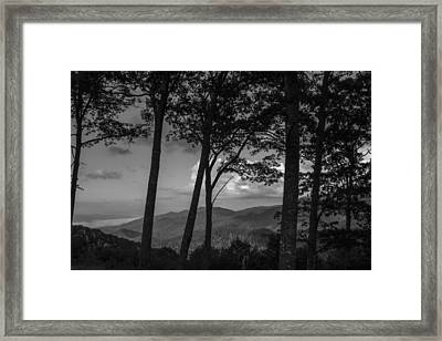 Smoky Mountain In Black And White  Framed Print by John McGraw