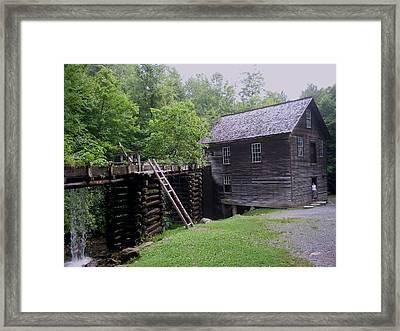 Smoky Mountain Mill Framed Print by CGHepburn Scenic Photos