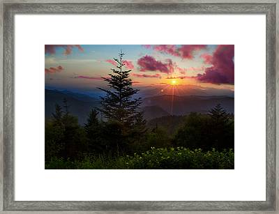 Smoky Mountain Sunset Framed Print by Christopher Mobley
