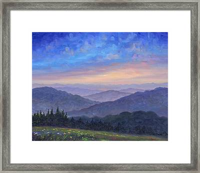 Smoky Mountain Wildflowers Framed Print by Jeff Pittman
