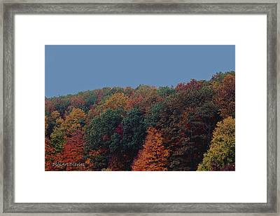 Smoky Mountains In Autumn Framed Print by DigiArt Diaries by Vicky B Fuller