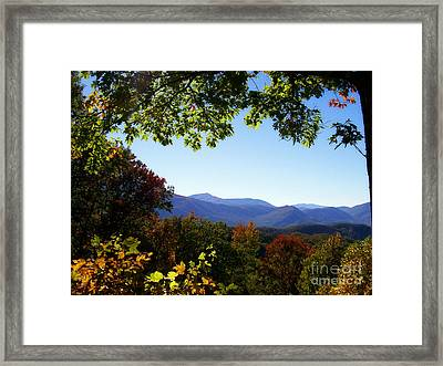 Smoky Mountains Framed Print by Lena Auxier