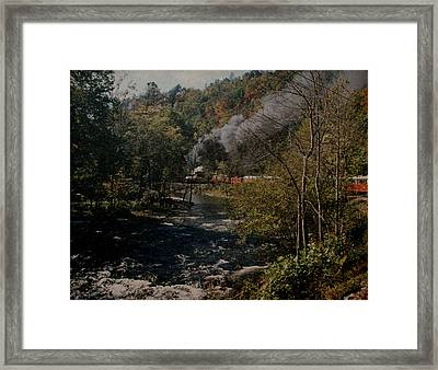 Smoky Mountains Rail Road Framed Print by Joseph G Holland