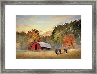 Smoky Mountains Sunrise Framed Print by Lori Deiter