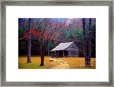 Smoky Mtn. Cabin Framed Print