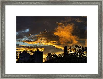 Framed Print featuring the photograph Smoky Sunset by Jeremy Lavender Photography