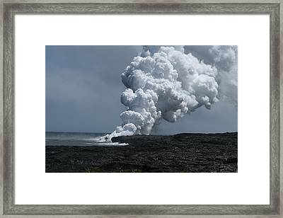 Smoldering Lava Framed Print by Andrei Fried