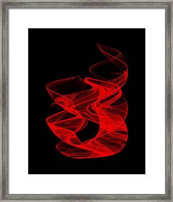 Smoldering Rise I Framed Print