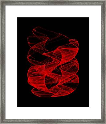 Smoldering Rise II Framed Print