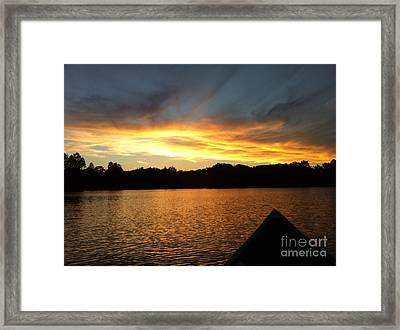 Smoldery Sunset Framed Print by Jason Nicholas