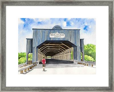 Smolen-gulf Bridge Framed Print by Laurie Anderson