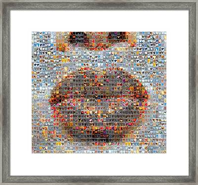 Smooch Framed Print by Boy Sees Hearts