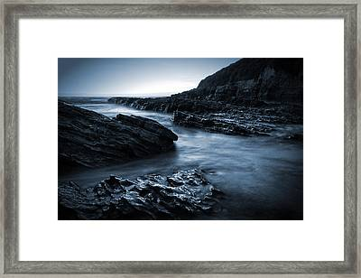 Smooth And Jagged Framed Print by Matt  Trimble