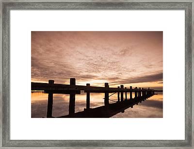 Smooth Bay Framed Print