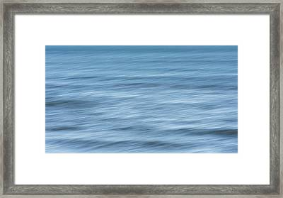 Smooth Blue Abstract Framed Print by Terry DeLuco