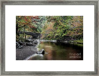 Smooth Flow Through October Framed Print by Michael Eingle